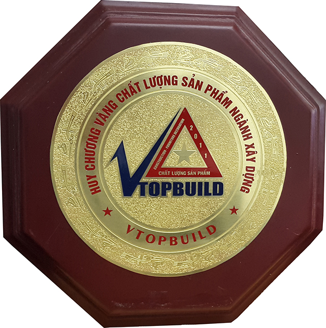 GOLD MEDAL FOR CONSTRUCTION QUALITY
