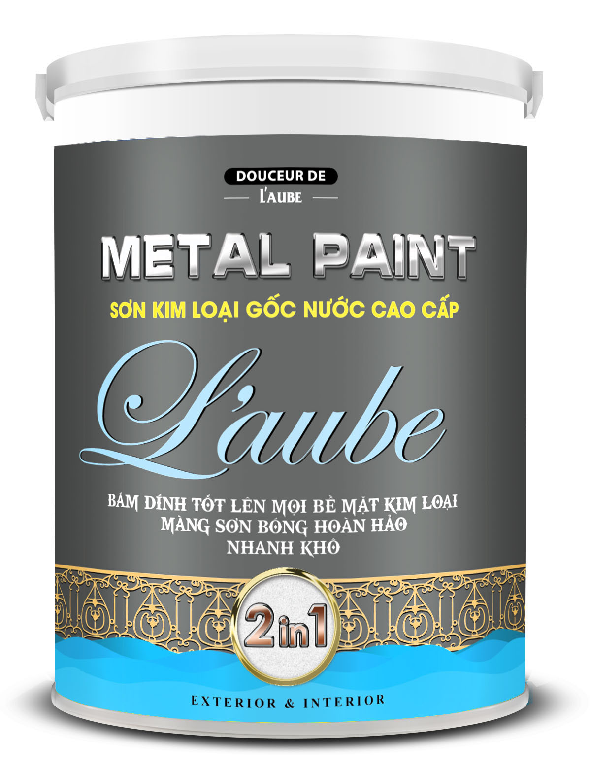 L'AUBE METAL PAINT - SƠN KIM LOẠI GỐC NƯỚC CAO CẤP